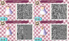 Little Angel Wings Dress - Animal Crossing New Leaf QR Code