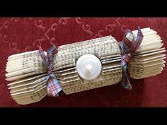 (28) Book folding. Christmas cracker - A cracker of a book fold - YouTube
