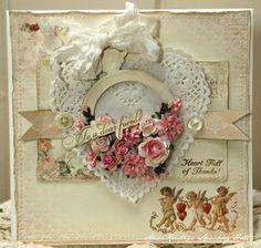 Carte coeur et fleurs