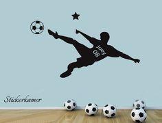Stoere voetbal naamsticker