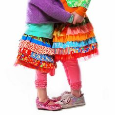 Little girl skirt inspiration <--- great use for all the little pieces I love but can't make anything big with.