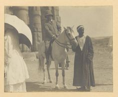 Roosevelt touring Luxor, Egypt, on horseback, Aug. 31, 1910. Library of Congress Prints and Photographs Division.