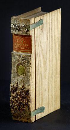 bricolage: curiosities    wooden tree bark 'book' boxes #4