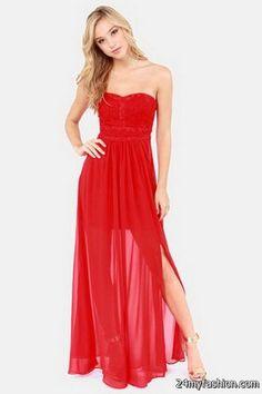 a48443e62b Red strapless maxi dresses Check more at https   24myfashion.com wedding