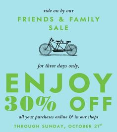 Take 30% OFF your order at the Kate Spade Friends & Family Sale. Enter Code F12FFUS. Ends 10/21.