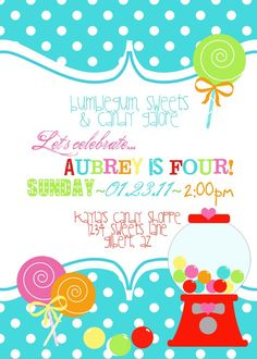 Gumball Candy Sweets Printable Birthday Party by FreshChickDesigns, $15.00