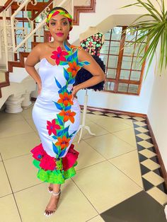 Tsonga Traditional Dresses, South African Traditional Dresses, Traditional Wedding Dresses, Traditional Fashion, African Inspired Fashion, Latest African Fashion Dresses, African Print Fashion, African Wear, African Dress