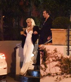 Party animals:The pair had spent Friday night partying with stars including Jessica Alba, Lily Collins and Christina Aguilera, but were the last to leave as they headed home at 4am