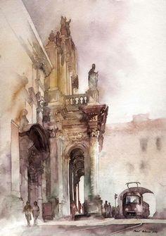 Polish Watercolor artists - CAMILLE ROMANO