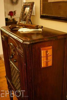Re-purposing Furniture | Wine cabinets, Repurposed and Radios