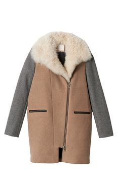 975597ce0935e0 Wool Coat With Shearling Collar | Rebecca Taylor Rebecca Taylor, Olivia  Palermo, Piece Of