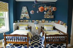 Boys shared bedroom makeover