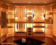 Гардеробная комната. Дизайн и обустройство систем хранения  Наличие гардеробной комнаты в квартире любой площади — это необходимость. Как стилистическое решение интерьера и варианты планировки позволяют определиться с габаритами и типом гардеробной, мы поговорим в этой статье. Вы узнаете также о системах хранения, наполнения и других моментах обустройства.  Гардеробная комната — необходимое помещение в любой квартире или доме. Ее отсутствие приводит к появлению массивных шкафов практически в…