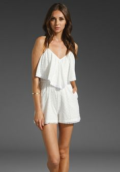White romper, different style. Maybe with knee high socks and beanie. Thinking about, ME 2.0 – All White Party outfit ideas