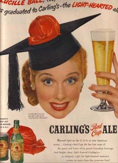 Carling's Red Cap Ale – Lucille Ball (1951)