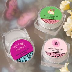 PERSONALIZED LIP BALM – SWEET 16