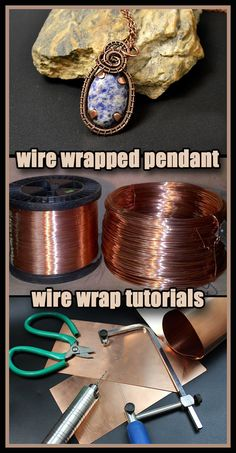 Copper pendant with your own hands. Weaving wire ornaments in Wire Wrap technique. Video from Valeriy for beginners. Copper Wire Crafts, Copper Wire Jewelry, Wire Jewelry Making, Handmade Wire Jewelry, Jewelry Making Tutorials, Wire Jewelry Patterns, Wire Jewelry Designs, Bijoux Wire Wrap, Wire Wrapped Jewelry