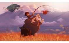 Game of Thrones reimagined as a Disney movie : Bran Stark & Hodor (by Anderson Mahanski & Fernando Mendonça)