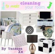 """""""How to make cleaning your room fun!!"""" by forever-tip-girls-xoxo ❤ liked on Polyvore"""