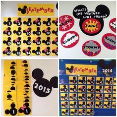 Kindergarten Preschool Disney Calendar & Weather by MsKarensKrafts