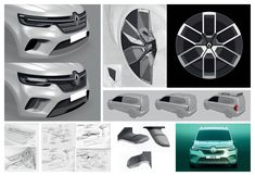 The sleek Renault Kangoo Z. Concept will influence both the regular Kangoo and the Z. Current Generation, Dynamic Design, Car Sketch, Green Accents, Car Wheels, Transportation Design, Sexy Cars, Automotive Design, Alloy Wheel