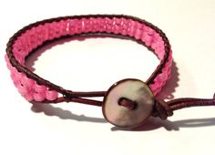 Pink Strap Bracelet by ValiantMosaic on Etsy, $20.00