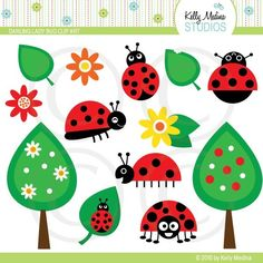 Darling Ladybug Clip Art by Kelly Medina