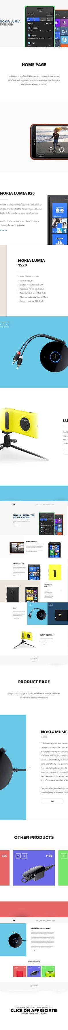 Nokia Lumia - free PSD
