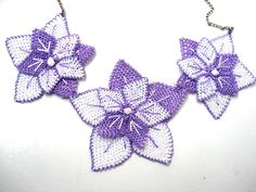 Turkish crochet lace jewelry oya necklace. $45.00, via Etsy.