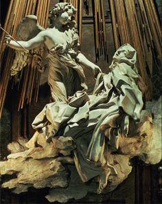 Ecstasy of St.Theresa (marble) by Bernini, Giovanni Lorenzo (1598-1680)