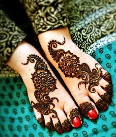 Feet Mehndi Designs 2013
