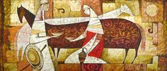 Lovely art work from female Kazakhstani artist. Exhibition: the Rhythm of Color.