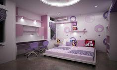 Purple Dream Bedrooms for Teenage Girls