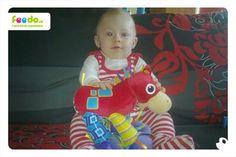 Maminka Radka poslala fotku Aleška s koníkem, děkujeme :)