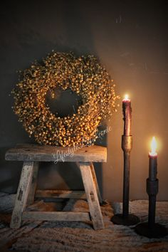 Vlas krans naturel - Lilly is Love Christmas Time, Christmas Ornaments, Wreath Crafts, Home And Deco, Wabi Sabi, Natural Living, Warm And Cozy, Candle Holders, Interior Decorating