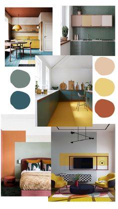 House Color Schemes Interior, Colour Combinations Interior, House Color Palettes, Home Interior Design, Decorating Color Schemes, Room Colors, House Colors, Room Decor Bedroom, Living Room Decor