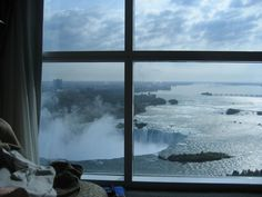 view of the niagara from a hotel room