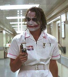Brand New Batman Joker Dark Knight Style Nurse Dress Uniform Outfit Costume - Le Joker Batman, Harley Quinn Et Le Joker, Der Joker, Joker Art, Batman Art, Joker Dark Knight, The Dark Knight Trilogy, Heath Ledger Joker, Joaquin Phoenix