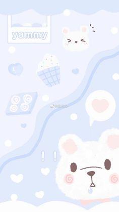 Iphone Wallpaper Fall, Soft Wallpaper, Bear Wallpaper, Emoji Wallpaper, Kawaii Wallpaper, Aesthetic Iphone Wallpaper, Aesthetic Wallpapers, Kawaii Stickers, Cute Stickers