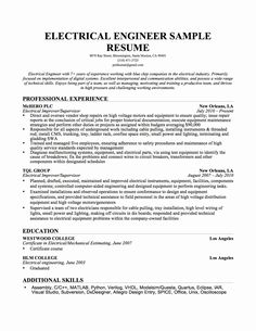Caregiver Sample Resumes Adorable Journeyman Electrician Resume Sample  Journeyman Electrician .