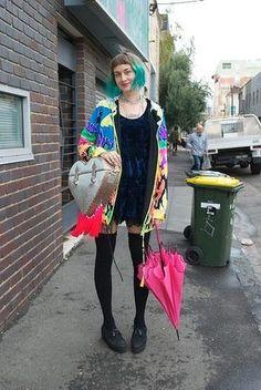 Street Seen. Kate Pettifer near Brunswick St, Fitzroy. #fashion #streetstyle #smh #lifeandstyle