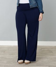 Look what I found on #zulily! Navy Peyton Palazzo Pants - Plus by KIYONNA #zulilyfinds