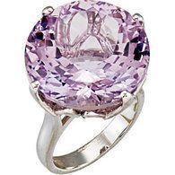 Sterling Silver  Genuine Rose De France Quartz Ring