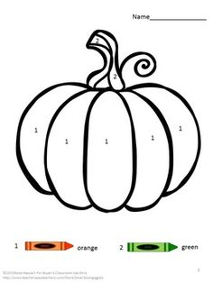 Fall Color by Number Math Center Kindergarten Special Fall Coloring Sheets, Fall Coloring Pages, Preschool Art Projects, Preschool Activities, Kindergarten Projects, Preschool Classroom, Halloween Crafts For Kids, Fall Crafts, Spooky Halloween
