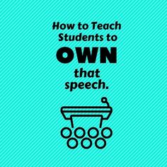 A great lesson plan by Teacher Off Duty for a public speaking high school or middle school ELA activity. Students need to have public speaking activities they are comfortable with in an ELA classroom. This post awesome to teach students to OWN speeches! Social Studies Lesson Plans, Social Studies Resources, Teacher Resources, Reading Resources, School Resources, Public Speaking Activities, Public Speaking Tips, Listening Activities, Drama Activities