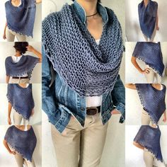 Knit wool poncho knit poncho sweater soft warm poncho denim knitwear wool co Poncho Pullover, Poncho Tops, Poncho Sweater, Knitted Poncho, Winter Poncho, Pull Poncho, Wool Shop, Mode Boho, Knitting Wool