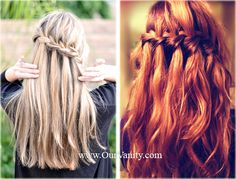 waterfall braids...