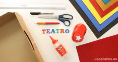Cómo hacer teatro casero para niños - PAPELISIMO Plastic Cutting Board, Website, English Class, Miraculous, Ideas, Puppet Theatre, Red Fabric, Tutorials, Tips