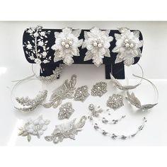 Wedding Inspiration from Debbie Carlisle Some pretty wedding sparkles getting ready to fly to my Japan stockist @authentique_weddingdress x