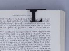 Bookmark Monogram. Initial / Letter  L  in Black Strong & Flexible